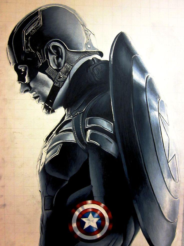 Captain America The Winter Soldier fan artwork                              …