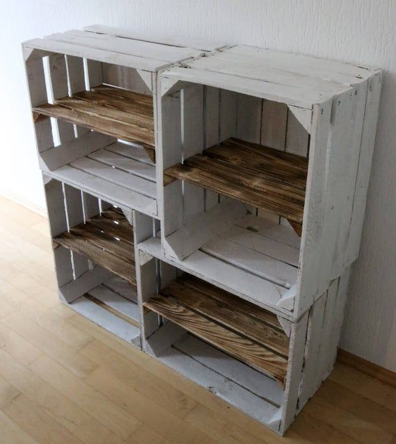 Rek Oude Wit Fruit Schoenendoos Met Hout Geconfronteerd Met Etsy Wohnzimmer Dekoration Schla Pallet Furniture Shoe Rack Wooden Shoe Racks Rustic Shoe Rack