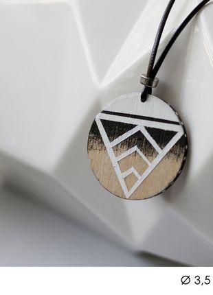 diy handmade necklace pendant indian aztec etno triangle