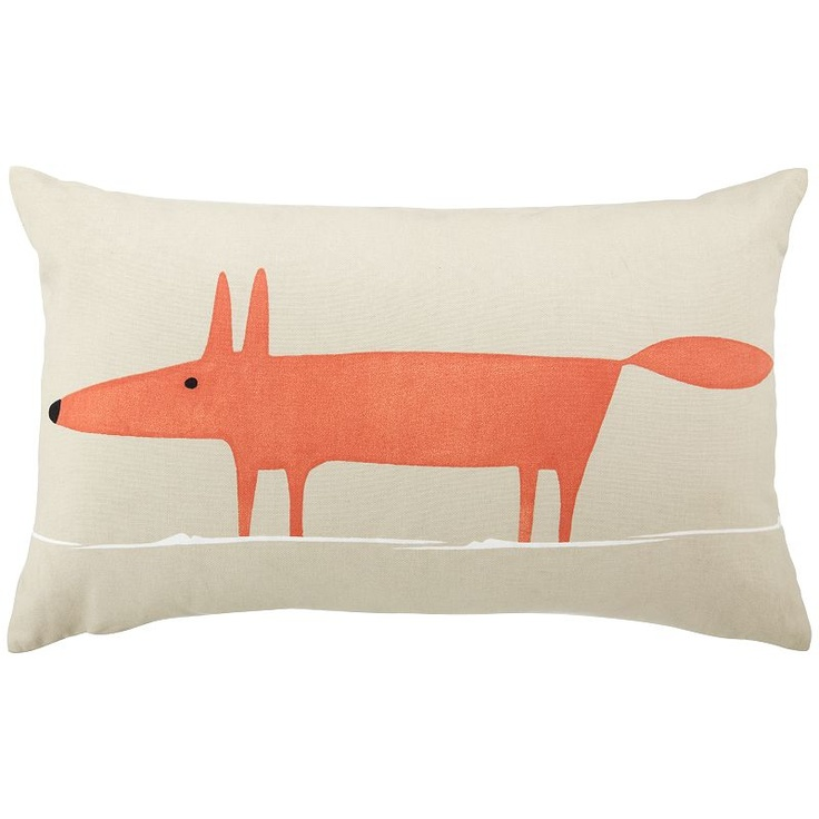 I just bought these Scion Mr Fox cushions from John Lewis - it's probably best if I keep them away from Mogwaii's chickens!