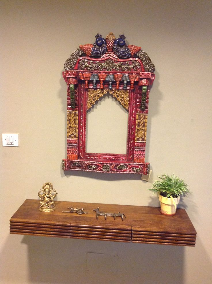 Jharokha Mirror with a Drawer Unit below, ideal for the entrance of your home
