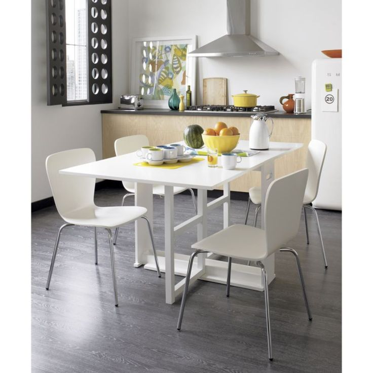 Designed By Mark Daniel This Gateleg Table Is Crafted Of Solid Hardwood And Engineered Wood Finished In White Lacquer The Span Dining