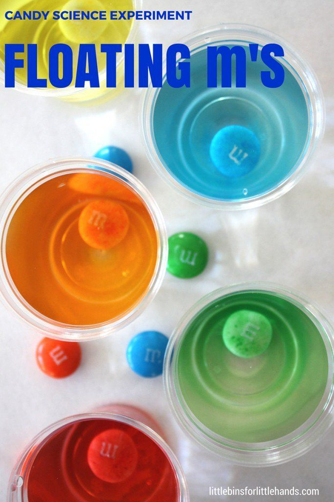 Flaoting M Candy Science Rainbow Experiment Dissolving Candy