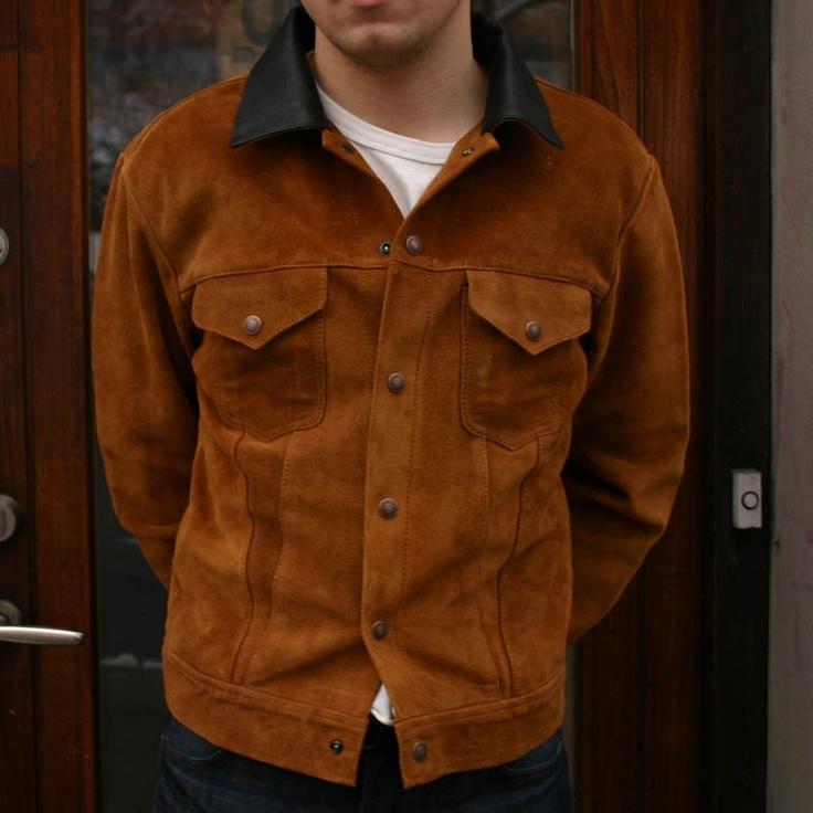 1950 S Suede Trucker Jacket Levi S Vintage Clothing