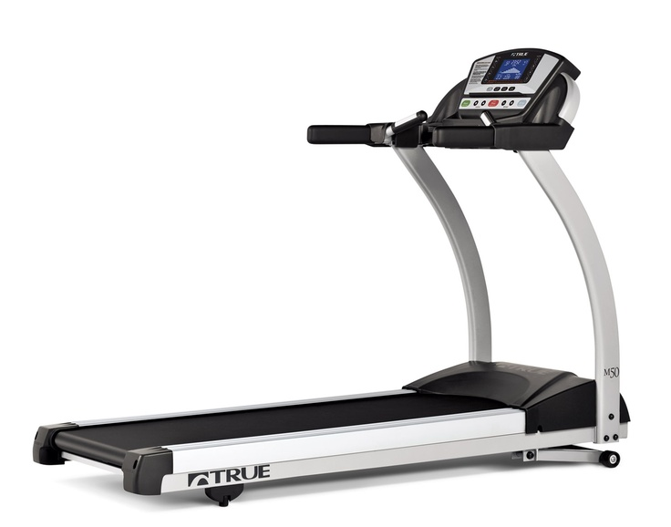 """The TRUE M50 treadmill provides a softer deck cushion in front where foot impact takes place, while providing dependably firm foot push off towards the back.  With an overall length of just 74"""", the M50 treadmill maximizes workout space in your home.   TRUE encourages you to """"Find Your Motivation"""" with the new M50.   www.truefitness.com #truefitness #treadmill"""