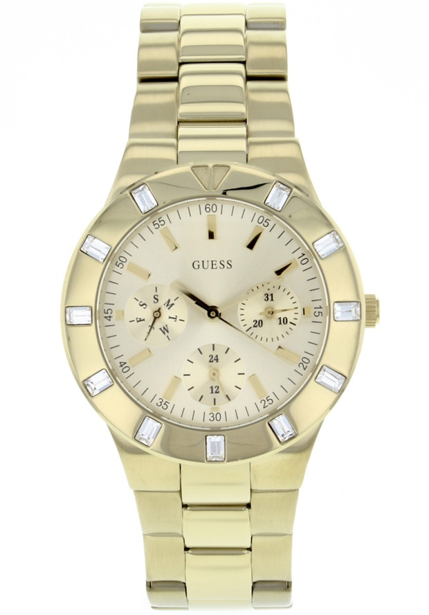Price:$124.11 #watches Guess W13576L1, Stainless steel case, Stainless steel bracelet, Gold dial, Quartz movement, Scratch-resistant mineral, Water resistant up to 5 ATM - 50 meters - 165 feet