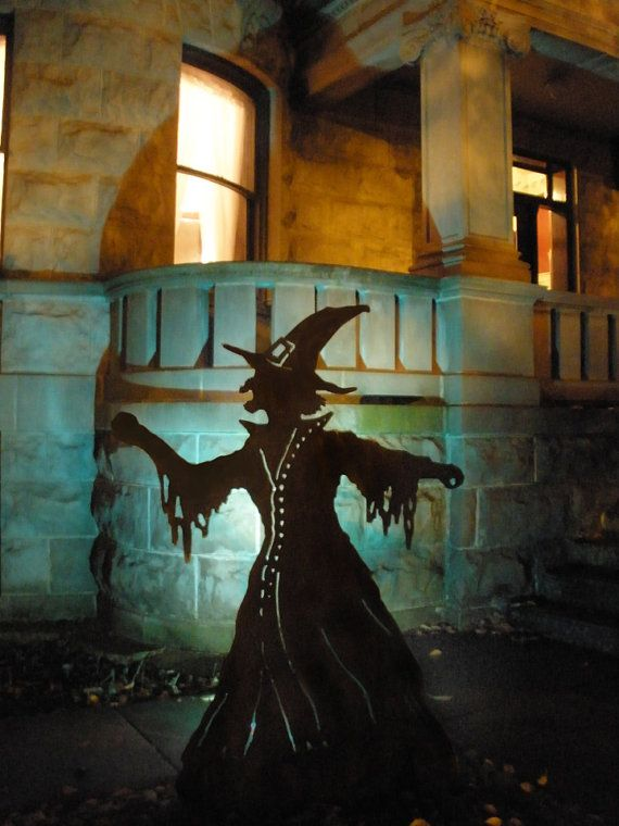 outdoor halloween witch decoration by chicagorouterworks on etsy 18000