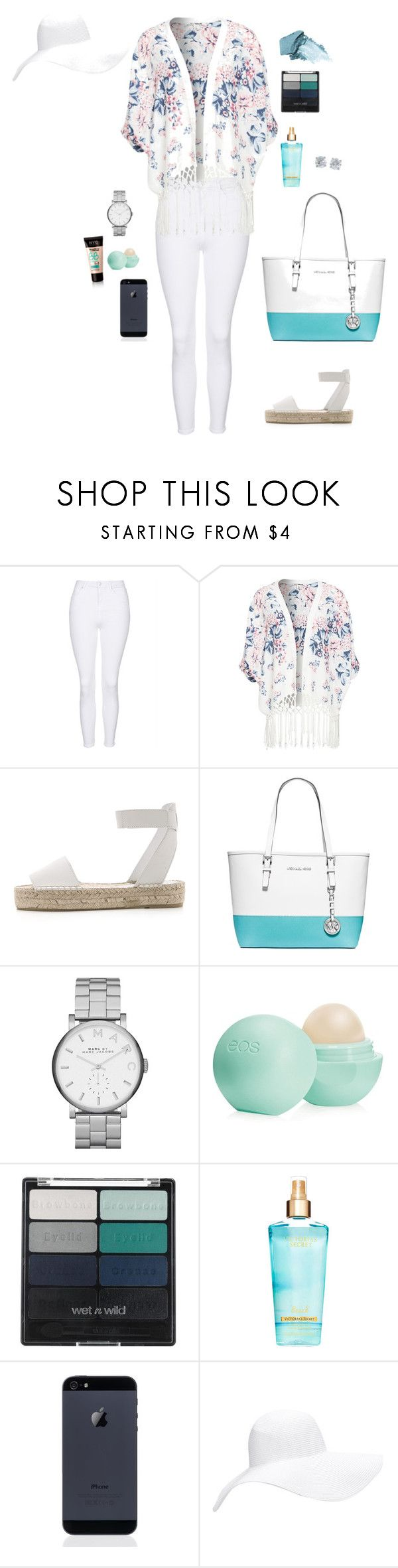 """""""wave after wave"""" by veerajohannaa ❤ liked on Polyvore featuring Topshop, Vince, MICHAEL Michael Kors, Marc by Marc Jacobs, Eos, Stila, Wet n Wild, Forever 21 and Tiffany & Co."""