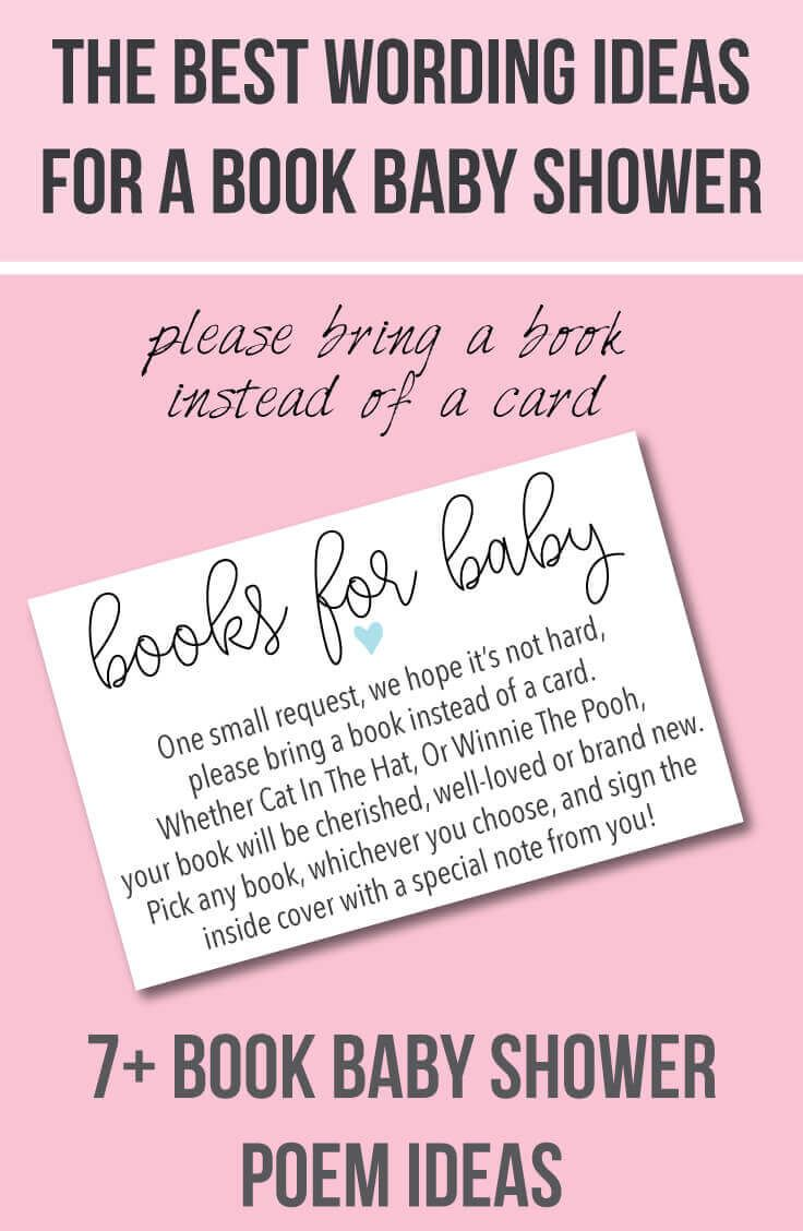 card baby shower printable book baby shower invitation insert too
