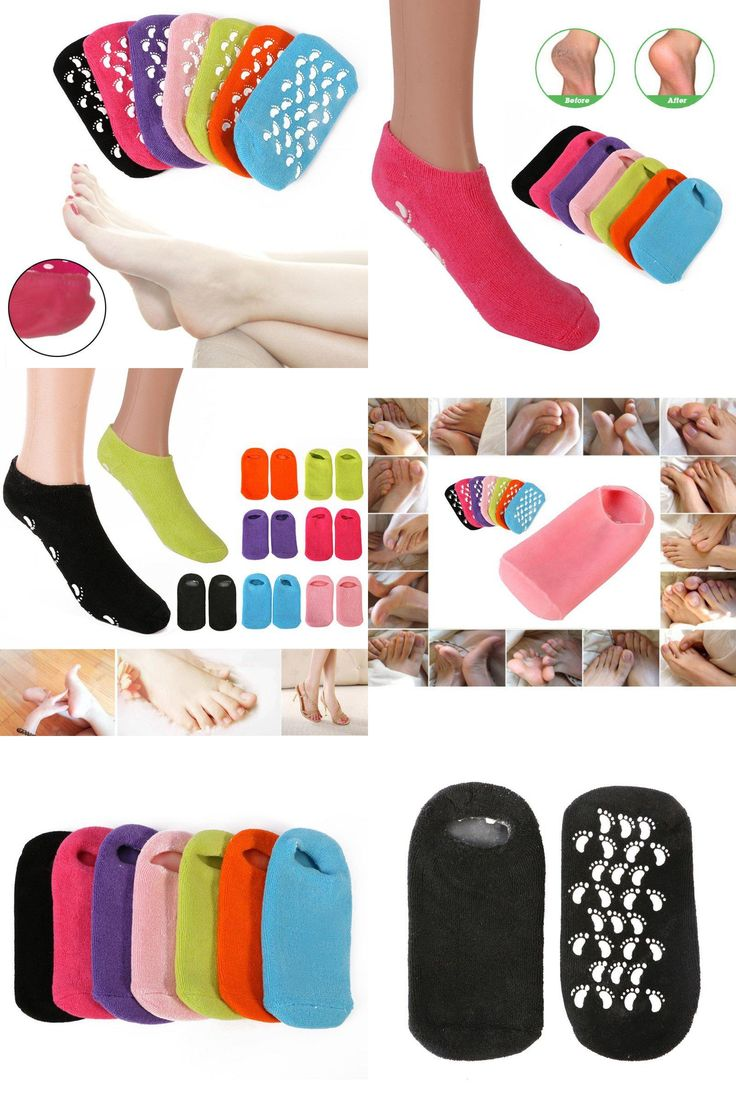 [Visit to Buy] Whitening Exfoliating Foot Mask Gloves Spa Gel Socks Moisturizing Hand Mask Feet Care Ageless Beauty Silicone Socks  #Advertisement