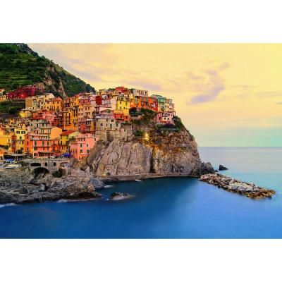 Ideal Decor 100 in. x 144 in. Cinque Terre Coast Wall Mural-DM130 - The Home Depot