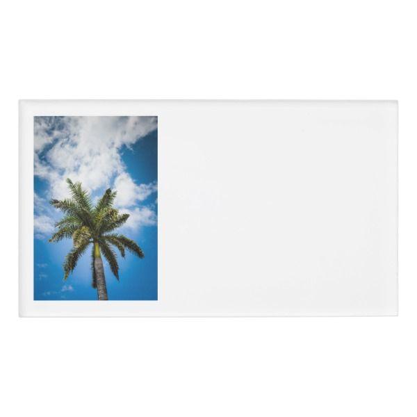 Jamaican Palm Tree Name Tag Custom nametags #teacher #tutor #business #nametags #officesupplies