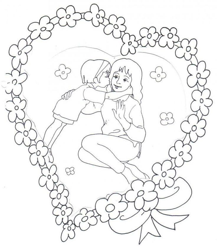 Anneler Günü Boyama Sayfalari Pinterest Mothers Day Coloring
