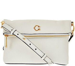 C. Wonder Pebble Leather Foldover Crossbody Handbag