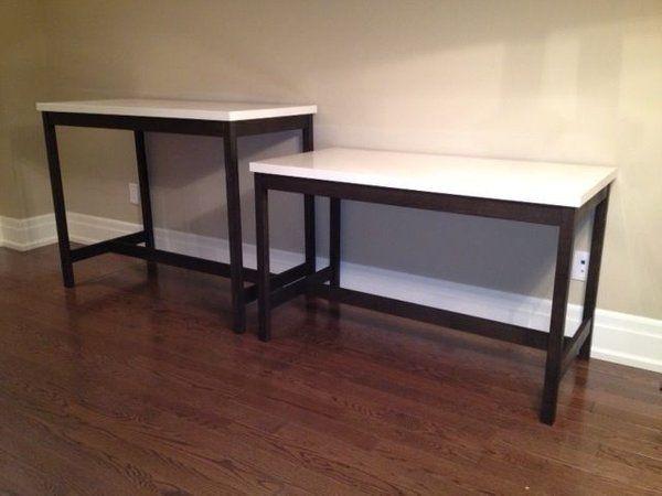 Fantastic Bar Table And Desk Using Ikea Table Tops Vika Amon Download Free Architecture Designs Itiscsunscenecom