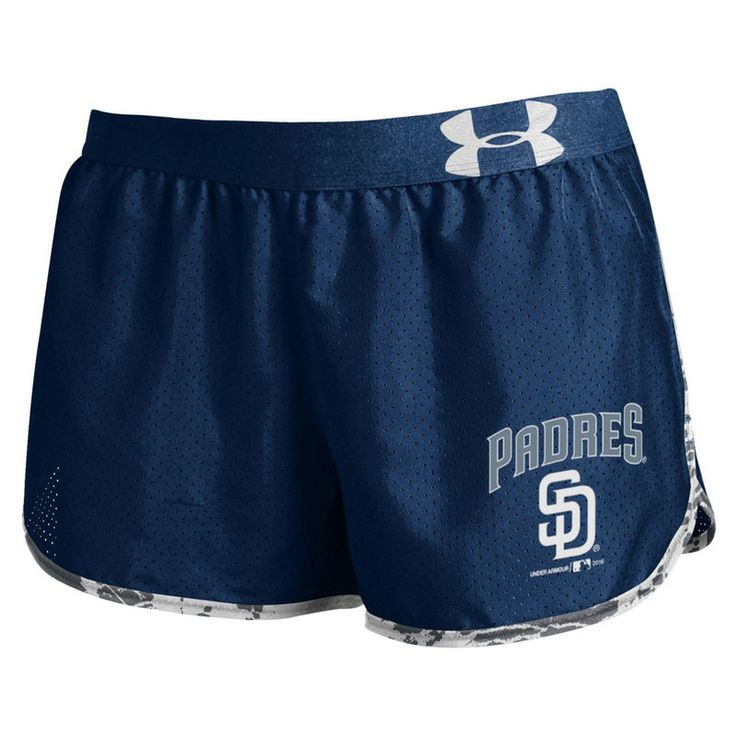 San Diego Padres Under Armour Women's Tied Up Performance Running Shorts - Navy