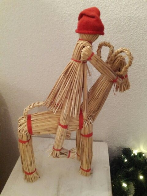 Goat made of straw