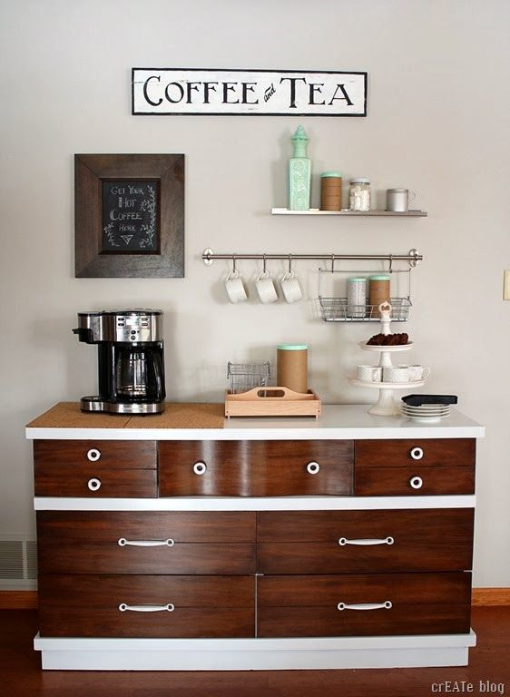DIY Show Off. Home Coffee StationsDrink StationsTea StationTea BarsCoffee  CornerBar IdeasDecor ...