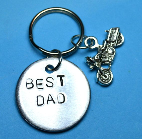 Father day gift Dad gift Dad key ring Dad by BeesHandStampedGifts