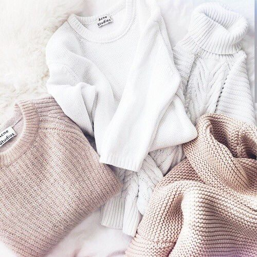 Soft, neutral sweaters if winter ever comes...this gives me the warm fuzzies