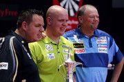 Raymond Van Barneveld and Adrian Lewis Photo