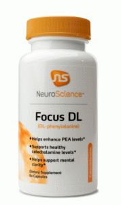 Focus DL is for those with brain fog, fatigue, low energy and for supporting normal neurotransmitter levels.  NeuroScience DL Phenylalanine may be helpful for the following:  Stimulating neurotransmitter support Fatigue Brain fog Low energy Supports focus and memory Adjunct that enhances PEA and catecholamine levels