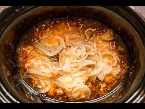 Une sauce maison, des côtelettes de porc et des oignons sucrés dans la mijoteuse! Un repas facile et addictif - Ma Fourchette