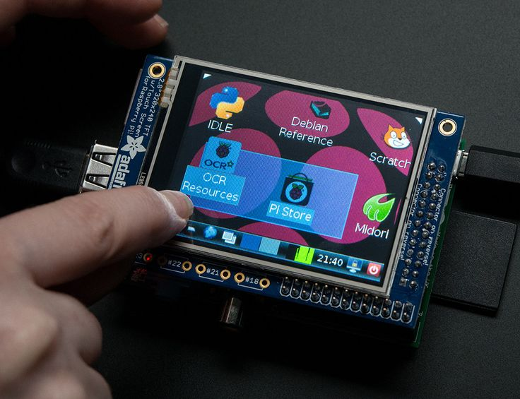 "PiTFT Mini Kit - 320x240 2.8"" TFT Touchscreen for Raspberry Pi"