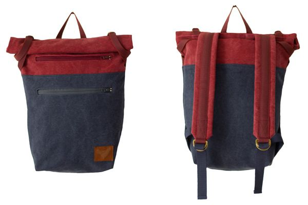 "Summer 2014 - ""Urban Nomads"" - PELE - DARK RED/DENIM BLUE - Blind Chic."