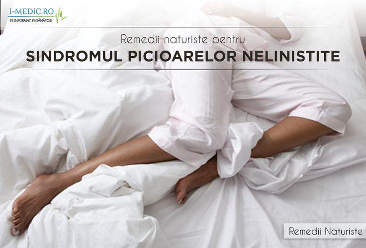 Sindromul picioarelor nelinistite este o tulburare de somn, manifestata prin nevoia irezistibila a pacientului de a se misca. Aceasta nevoie de miscare este cauzata de senzatie de arsura si furnicaturi, cu precadere la nivelul picioarelor -  http://www.i-medic.ro/remedii/remedii-naturiste-pentru-sindromul-picioarelor-nelinistite