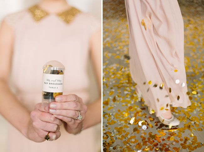 we love confetti for a wedding!