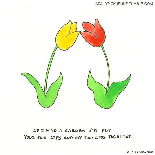 cheesy flower pick up lines