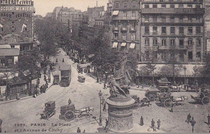 Vue aérienne de la place de Clichy, vers 1900.
