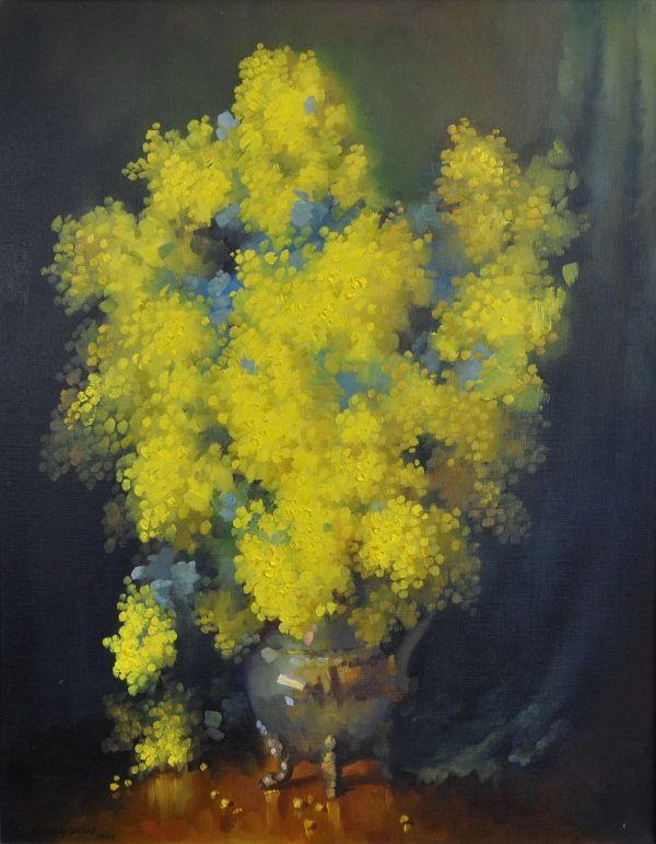 Dudley Joseph Drew ( Australian, 1924-) - Wattle.