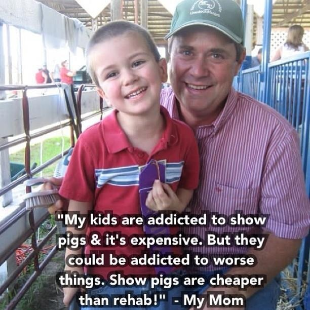 I need to remember this when I gripe and complain about the cost of show pig feed!