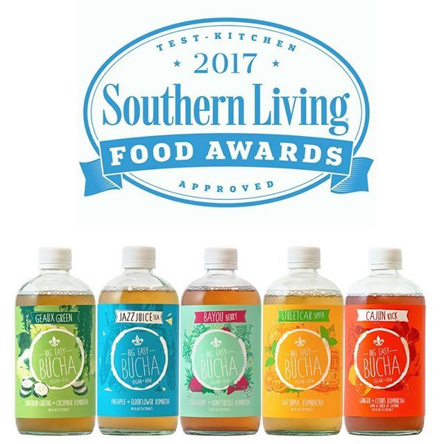#friyay!!! #fridayfeeling much enhanced thanks to this #wonderful news: @southernlivingmag named our #neworleans #kombucha one of the #best #Southern Made Products of 2017! We could not be more #thrilled! #foodawards #southernliving #gratitude from the entire team at #bigeasybucha! PS they called us #exotic #yall! 💗💗💗🙌💗💗💗 #Bucha #fermented #Nola #tea #uniquelysouthern