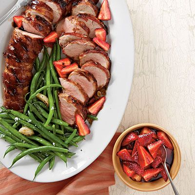 Pork Tenderloins with Balsamic Strawberries | 45 minutes | SouthernLiving.com