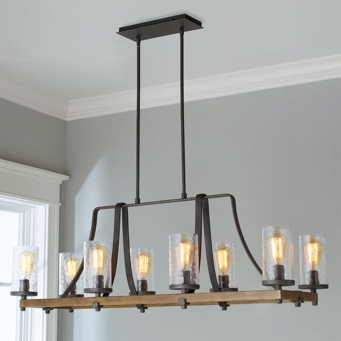 Check out Industrial Farmhouse Wavy Glass Island Chandelier - 8 Light from Shades of Light