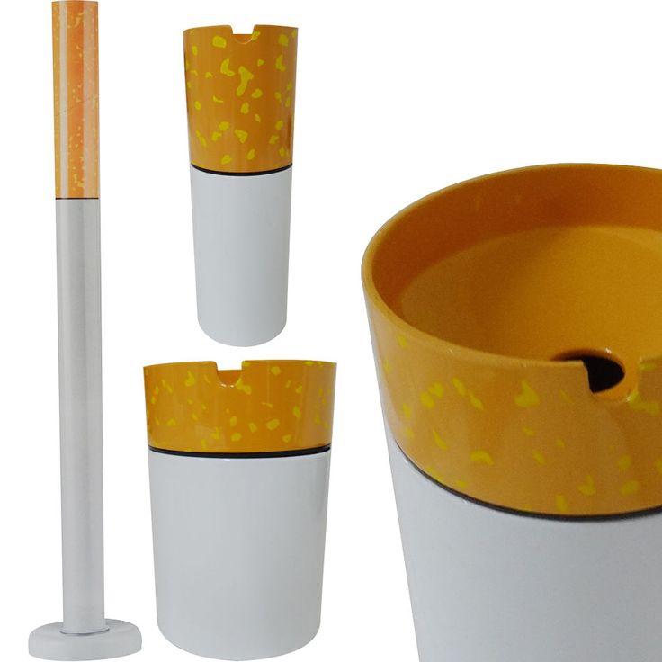 STANDING/TABLE SMALL LARGE GARDEN OUTDOOR ASHTRAY REALISTIC CIGARETTE DESIGN STE