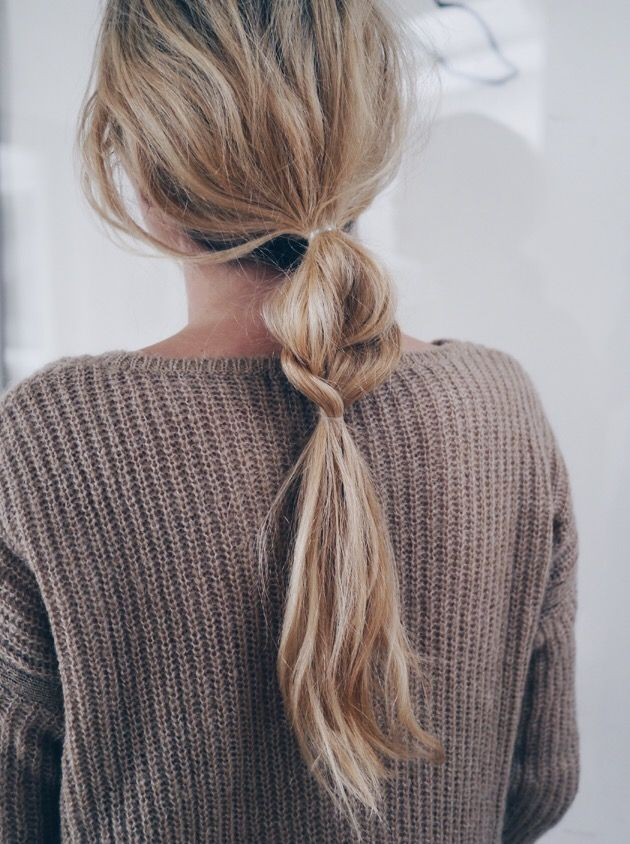 ponytail pony tail with volume casual hairstyle ideas