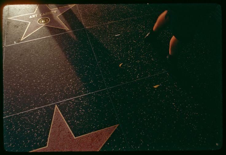art carney's star at sunset on hollywood boulevard 1980 - matt sweeney mudstonephoto.com