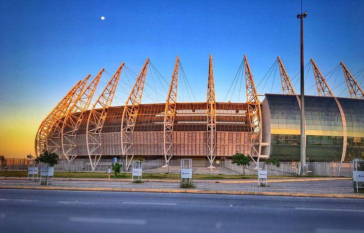 Arena Castelão.  #stadium #sunset #instagood #sky #brasil #cearaemfotos #fortaleza