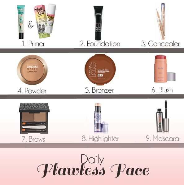 9 steps to your daily flawless face! #thewink