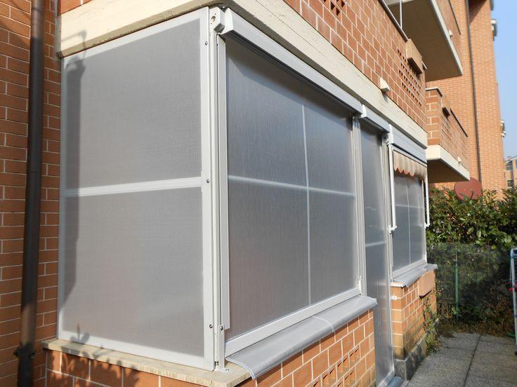 Chiusura completa del balcone con tenda veranda e pannelli fissi www ...