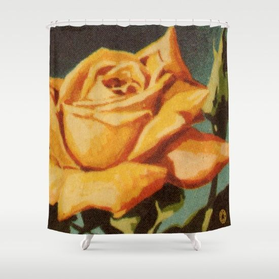 Yellow Rose shower curtain by Fluxionist $68 on Society6 20% off and free shipping now for the time being!