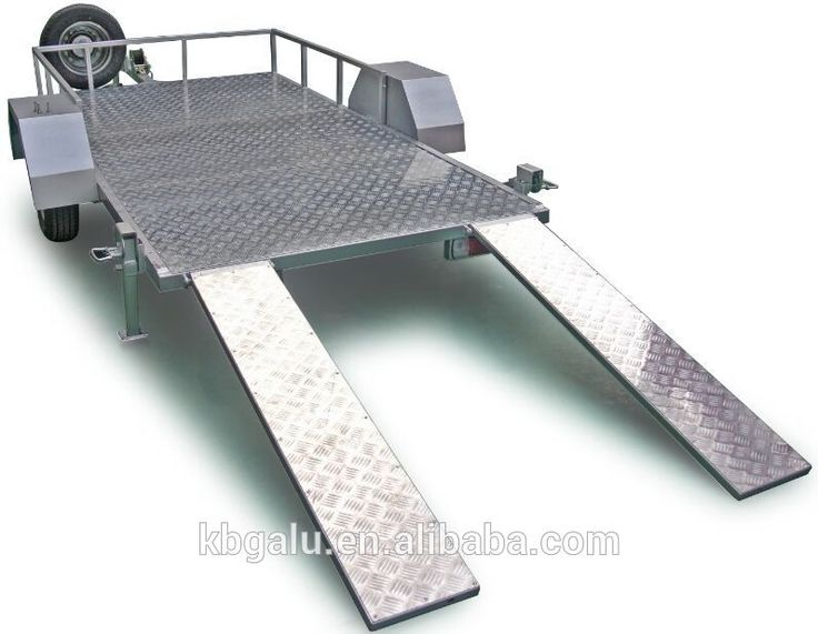 high quality aluminum trailer with loading rampe