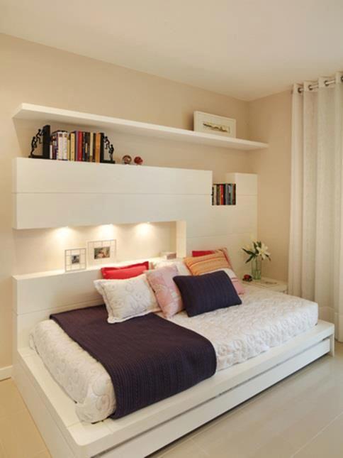 Assim vale a pena ser solteira! Para ter um quarto lindo como este.