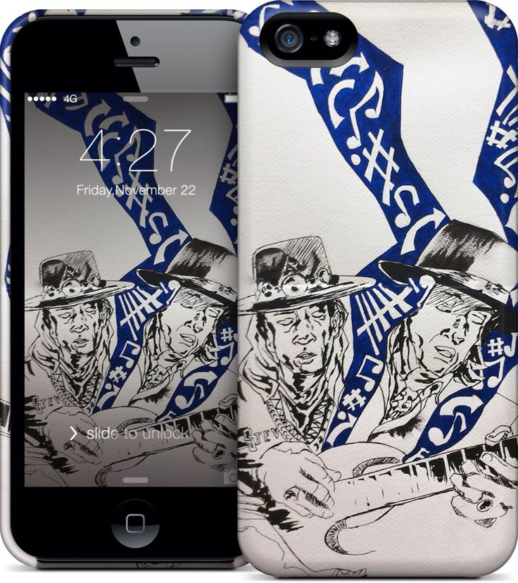 Steve Ray Vaughan iPhone and Samsung cases at nuvango.com