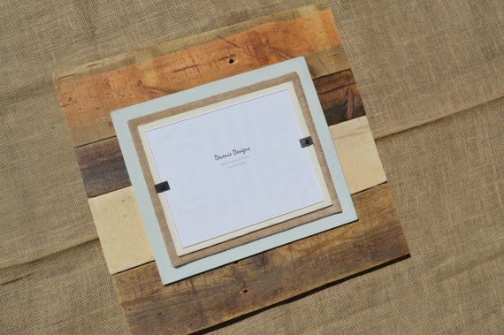 20x20 Plank Reclaimed Wood Picture Frame - Holds 8x10 photo on Etsy, $ ...