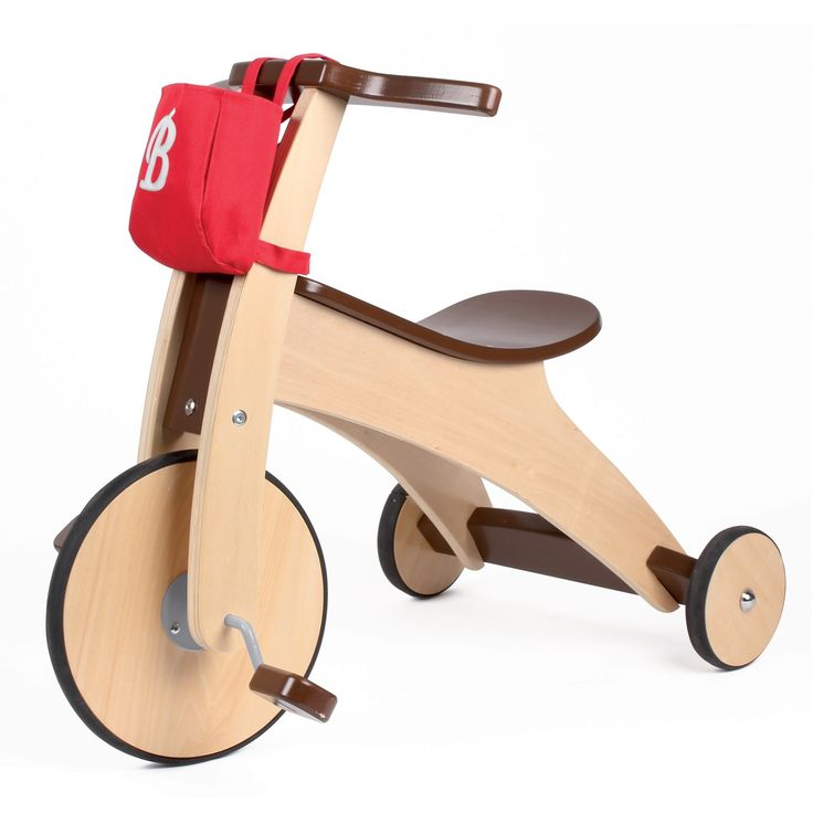 Wooden tricycle stable and robust.